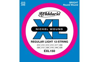 DAddario EXL150 - XL 12 String Regular Light [10-26]